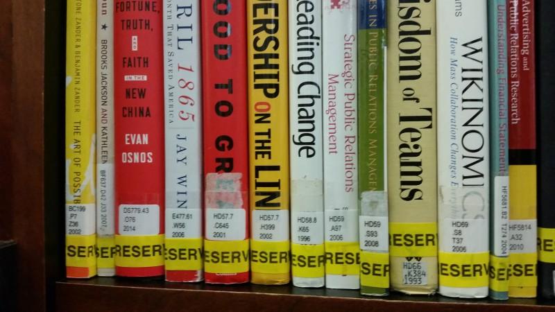 Reserves shelf