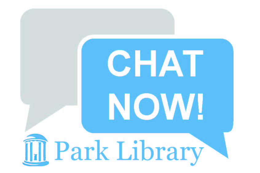 Online.  Click to chat with the Park Library.
