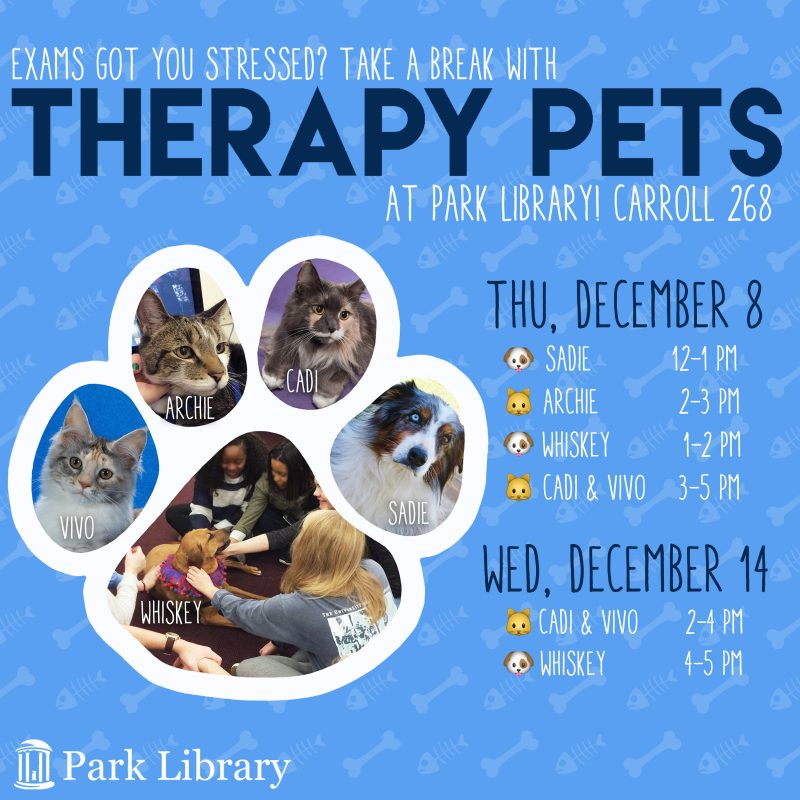 Therapy Pets at Park Library