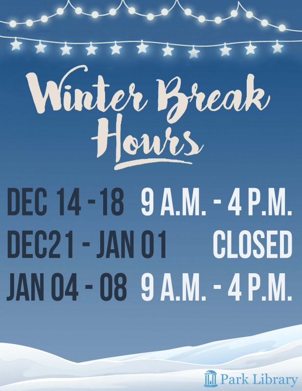 WinterBreak2015 Hours
