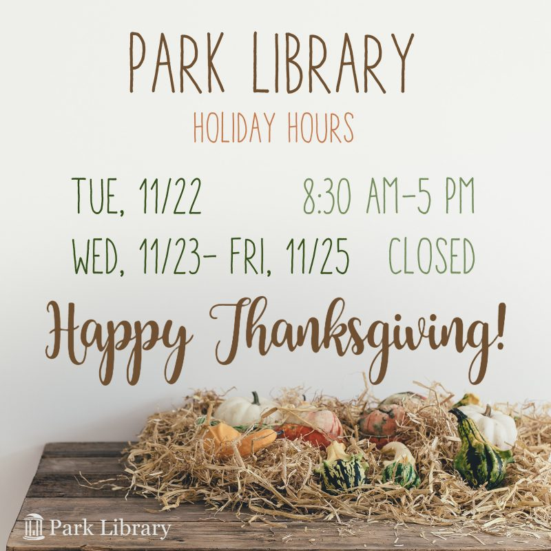 Thanksgiving library hours
