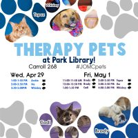 Spring 2015 Therapy Pets Schedule