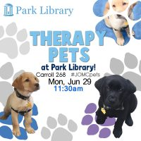 Summer 2015 Therapy Pets Schedule