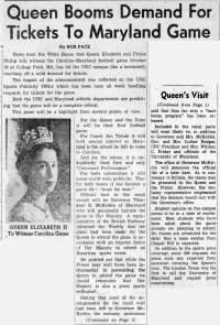 Article about high demand for football tickets after announcement that Queen Elizabeth II would attend the game.
