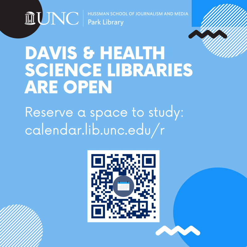 Davis and HSL are open - must reserve seat to study there